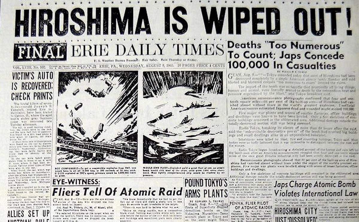 the us decision to drop the atomic bomb in hiroshima Attempting to bring an earlier end to world war ii, us president harry truman made the fateful decision to drop a massive atomic bomb on the japanese city of hiroshima on august 6, 1945, this atomic bomb, known as little boy, flattened the city, killing at least 70,000 people that day and tens of thousands more from radiation poisoning.