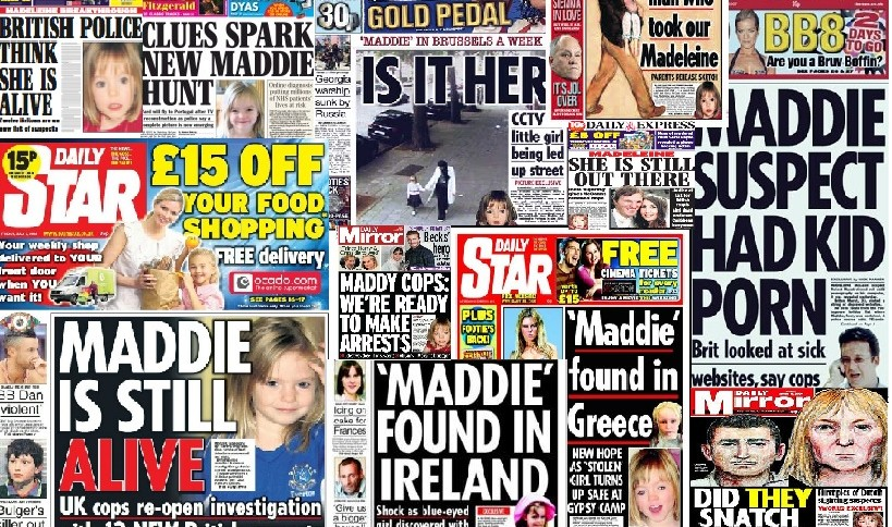 Media Mayhem - MCCANN MEDIA NONSENSE OF THE DAY - Page 12 Maddie-Headlines-819x484