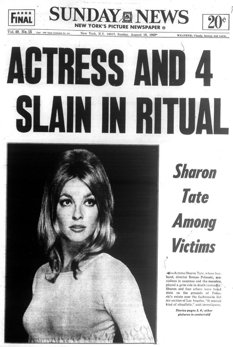 Image result for the charles manson cult murders of actress sharon tate and four others