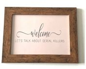 TRUE CRIME GIFTS SIGN