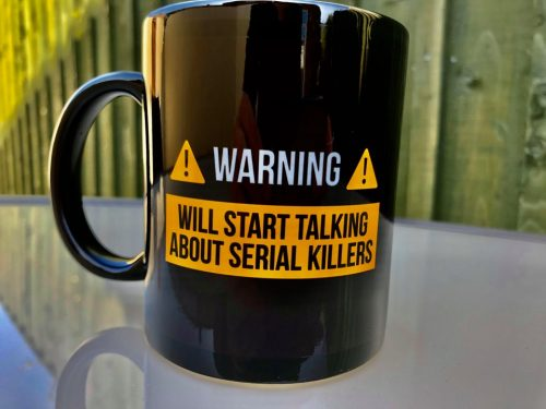 true crime fan mug